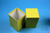 NANU Box 130 / 1x1 ohne Facheinteilung, gelb, Höhe 130 mm, Karton spezial....