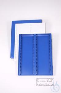Obi Box 100 / 2x50 divider, blue, height 35 mm fix, num. ID code with index...