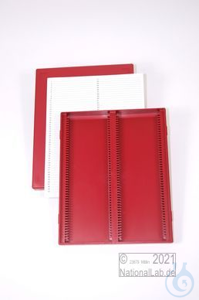 Obi Box 100 / 2x50 divider, red, height 35 mm fix, num. ID code with index...
