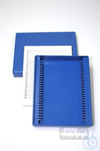 Obi Box 25 / 25 divider, blue, height 35 mm fix, num. ID code with index...