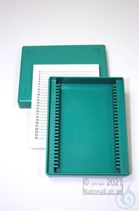 Obi Box 25 / 25 divider, green, height 35 mm fix, num. ID code with index...