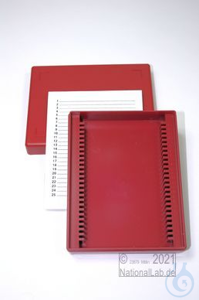 Obi Box 25 / 25 divider, red, height 35 mm fix, num. ID code with index card,...