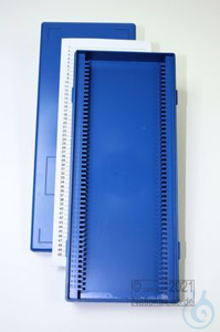 Obi Box 50 / 50 divider, blue, height 35 mm fix, num. ID code with index...