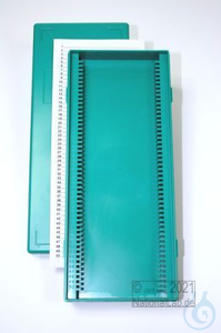 Obi Box 50 / 50 divider, green, height 35 mm fix, num. ID code with index...