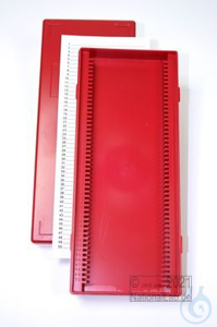 Obi Box 50 / 50 divider, red, height 35 mm fix, num. ID code with index card,...