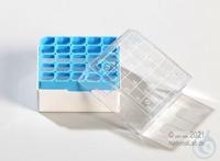 Kryo Box 25 / 5x5 divider, blue, height 52 mm fix, num. ID code, PC. Kryo Box...