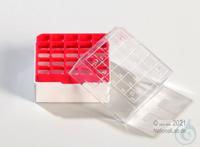 Kryo Box 25 / 5x5 divider, red, height 52 mm fix, num. ID code, PC. Kryo Box...