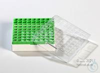 Kryo Box 81 / 9x9 divider, green, height 52 mm fix, num. ID code, PC. Kryo...