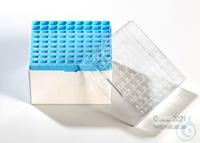 Kryo Box 81H / 9x9 divider, blue, height 95 mm fix, num. ID code, PC. Kryo...