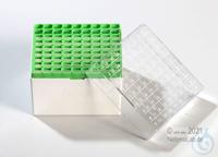 Kryo Box 81H / 9x9 divider, green, height 95 mm fix, num. ID code, PC. Kryo...