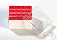 Kryo Box 81H / 9x9 divider, red, height 95 mm fix, num. ID code, PC. Kryo Box...