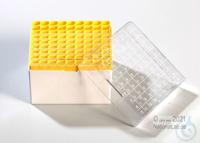 Kryo Box 81H / 9x9 divider, yellow, height 95 mm fix, num. ID code, PC. Kryo...