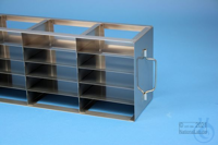 ALPHA horizontal rack 32, for 15 boxes up to 136x136x35 mm, 3D/5H, stainless...
