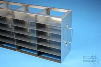 ALPHA horizontal rack 32, for 18 boxes up to 136x136x35 mm, 3D/6H, stainless...