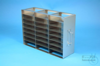 ALPHA horizontal rack 32, for 24 boxes up to 136x136x35 mm, 3D/8H, stainless...