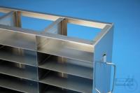 ALPHA horizontal rack 32, for 27 boxes up to 136x136x35 mm, 3D/9H, stainless...