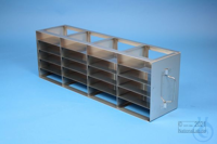 ALPHA horizontal rack 32, for 20 boxes up to 136x136x35 mm, 4D/5H, stainless...