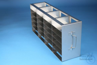 ALPHA horizontal rack 32, for 24 boxes up to 136x136x35 mm, 4D/6H, stainless...