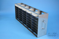 ALPHA horizontal rack 32, for 40 boxes up to 136x136x35 mm, 5D/8H, stainless...