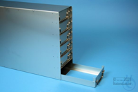 ALPHA drawer rack 50, for 18 boxes up to 136x136x53 mm, 3D/6H, stainless...