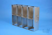 EPPi® horizontal rack, with one intermediate shelf, 4D/2H, stainless steel,...