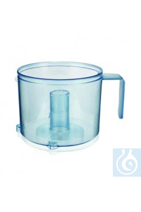 Grinding container, 1L autoclavable plastic (transparent and scratch-resistant) Accessories for...