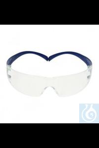 Protection spectacle SecureFit 200 SG/AF, lenses: PC clear frame: blue, SF201SGAF-BLU-EU Safety...