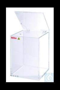 Beta-waste protective containers,Plexiglas 370 x 370 x 720 mm   Beta-waste...