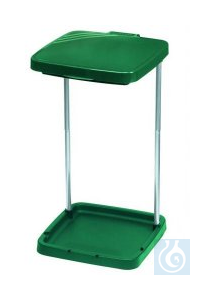 Waste bag stand,for standard waste bags size 400x360x710 mm  Waste Sack Holder Green. Consists of...