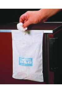 Trash sacks,PE-HD,with adhesive strip,203x254 mm pack of 50  Waste Bags, HDPE HDPE. With adhesive...