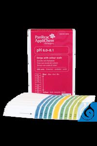 Indikatorpapierstreifen pH 6,0-8,1 (Gradeinteilung 0,3)...