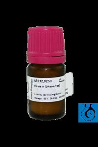 RNase A (DNase-frei) RNase A (DNase-frei)Inhalt: 250 mgPhysikalische Daten:...