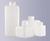 Vierkantflaschen, enghals, PE-HD, 100 ml, GL 25, Ohne Verschluss (bitte...