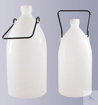Enghalsflaschen, PE-LD, 3000 ml, GL 32, komplett mit Schraubverschluss und...