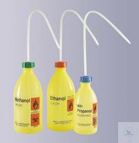 Labor-Sicherheitsspritzflasche, enghals, PE-LD, 1000 ml, Aufdruck: Aceton...