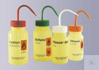 Labor-Sicherheitsspritzflasche, weithals, PE-LD, 500 ml, Aufdruck: Aceton...