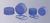 Schraubkappe, geschlossen, aus PP, blau, GL 32  blau, komplett mit Dichtung,...