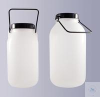 Weithalsflaschen, PE-LD, 3000 ml, GL 94, komplett mit Schraubverschluss und...