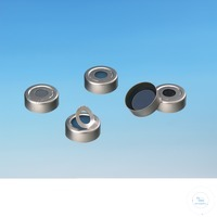 Bördelverschlüsse ND 20 mit Septum Bördelkappe: Aluminium Bördelkappe,...