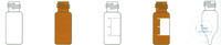 Kurzgewindeflaschen ND 8, 1,5ml, Klarglas, VE=100 Stück Kurzgewindeflaschen...
