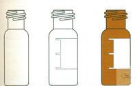 Kurzgewindeflaschen ND 9, 1,5ml, Klarglas, VE=100 Stück Kurzgewindeflaschen...