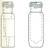 Kurzgewindeflaschen ND 9, 0,2 ml, Klarglas mit Mikroeinsatz, VE=100 Stück...
