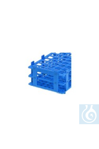 Reagenzglasgestell PP, Farbe blau Reagenzglasgestell PP, Farbe blau, 40 Stellplätze, für Gläser...