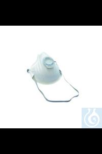 Grobstaubmaske FFP1, 10 St. Grobstaubmaske mit Ausatemventil aus weichem...