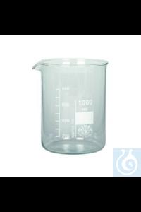 Bechergläser Boro Becherglas Niedere Form Boro 3.3, 25 ml Becherglas Niedere Form Borosilkatglas...