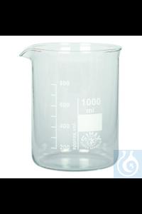 Bechergläser Boro Becherglas Niedere Form Boro 3.3, 100 ml Becherglas Niedere Form Borosilkatglas...