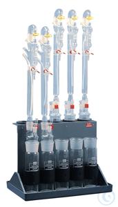 DES5 behrotest Ständer für 5 Glasapparaturen behrotest Ständer für 5 Glasapparaturen