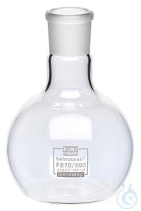 FB70/500 behrotest® Stehkolben 500 ml, NS29 mit 4-facher Heizungskontaktfläche...