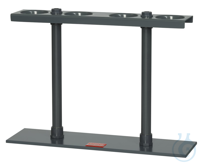 GSM4 behrotest rack for Sedimention vessels made of sollid PVC grey, for 4 Imhof behrotest rack...