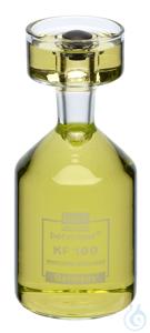 KF100/30 behrotest Karlsruher Flasche 100 ml, mit Stopfen Grifflänge Stopfen 20  behrotest...